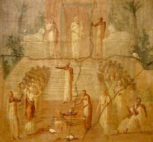 The Worship of Isis from a Herculaneum fresco